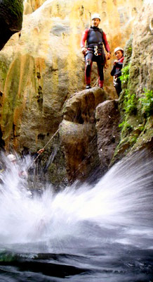 Costa del Sol Canyoning, waterfalls in Benahavis