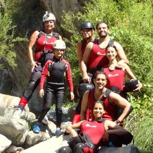 Family fun canyoning in Benahavis, Costa del sol, Spain