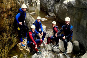 Stag Canyoning adventure in Benahavis, Costa del Sol, Spain, Stag do